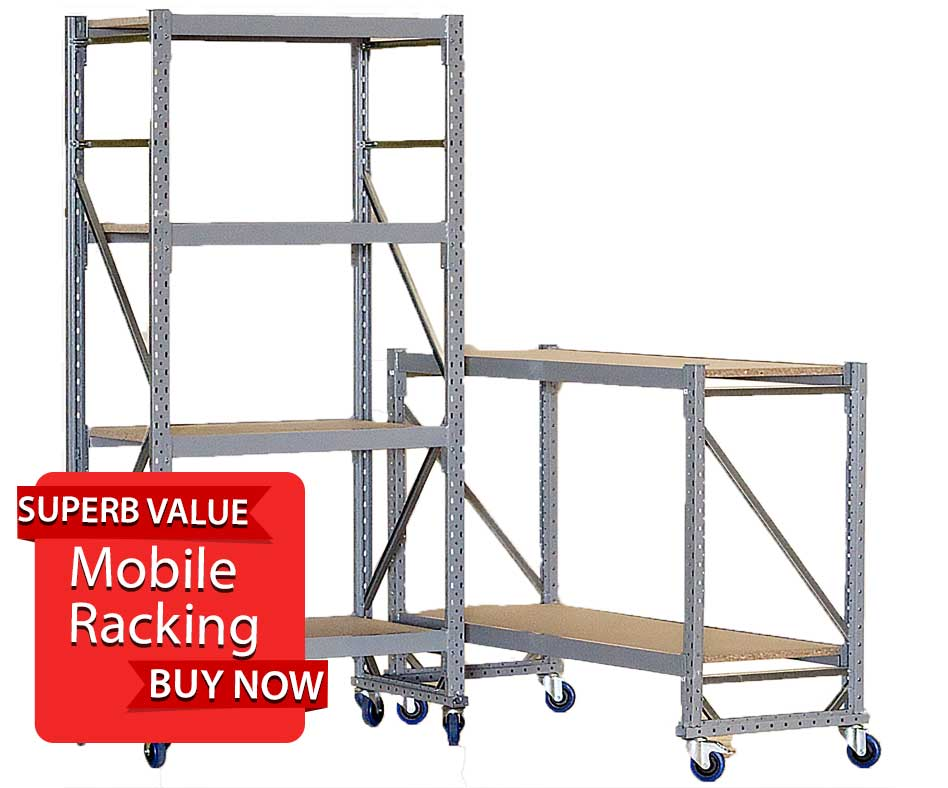 Mobile Hand Loaded Racking details