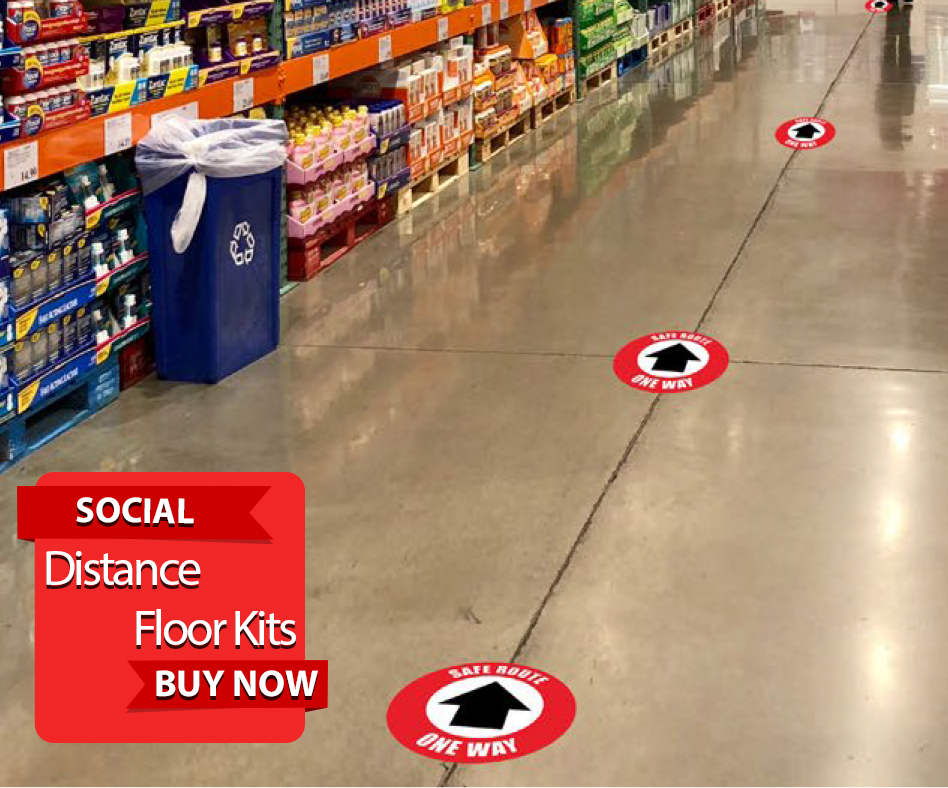 Social Distance Floor Kits details